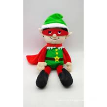 Plush Soft Toy Christmas Elf Super Hero