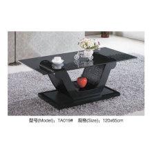 Schwarzes Cafe Glastisch für moderne Designermöbel (TA019)