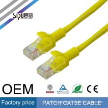 Cabo redondo / liso de alta qualidade de SIPU da rede dos ethernet Cat5e do cabo de remendo de Cat6 RJ45