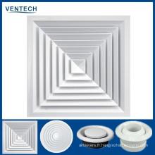 Ventilateur d'air de plafond carré en aluminium de prix bon marché de la Chine
