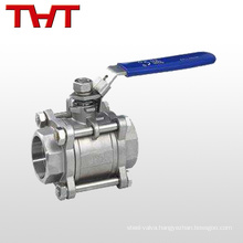 dn15 3 pcs cf8m bsp thread encapsulated ball valve