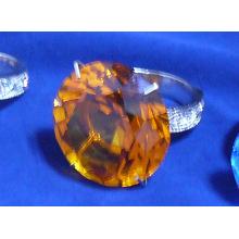 Fontes do hotel de cristal --- Suporte de anel de guardanapo de vidro de cristal (JD-CJH-003)