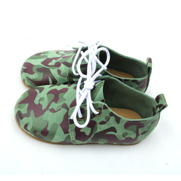 Army Green Gummisohle Kinder Oxford Schuhe