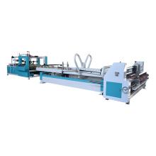 High speed automatic carton box folder gluer machine with strapping machine