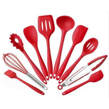 Amazon Hot Sale Utensilio de silicona set de 10