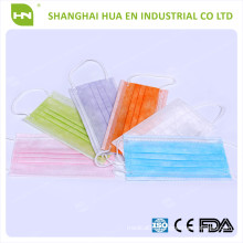 colors face mask 3ply 95 BFE made in China