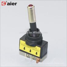 ASW-15D 20A 12VDC SPST ON OFF Interruptores de palanca para automóviles iluminados