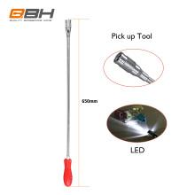 QBH T01 LED light Magnetic Pick up tool,reacher grabber pick up tool,reach pick up tool