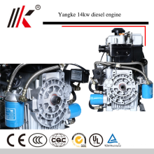 14KW/19HP AIR-COOLED TWIN CYLINDER PORTABLE DIESEL ENGINE FACTORY PRICE
