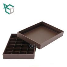 Hochwertiger Pappschokoladenverpackungs-Goldstempel mit Deckel