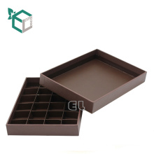 High quality cardboard chocolate packaging gold stamping with lid