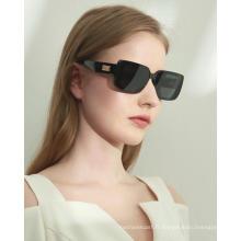 Vente en gros 2021 nouvelles lunettes de soleil unisexes rétro noir de créateur de mode