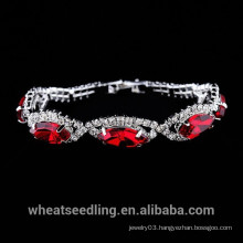 2015 Fashion Glass Gemstone Crystal Bracelet for Women