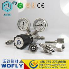 Regulador de baixa pressão de duplo estágio de aço inoxidável