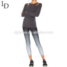 calças baratas por atacado do yoga do treinamento das mulheres do preço por atacado