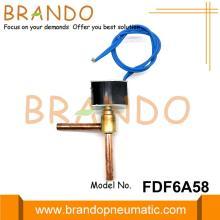 Válvula electromagnética de flujo mini FDF6A58 para aire acondicionado