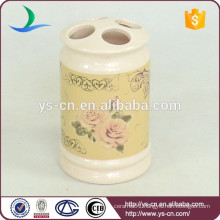YSb40096-01-th Flora design Europe ceramic bathroom toothbrush holder