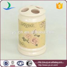 YSb40096-01-th Flora design Europe porta escova de cerâmica banheiro escova de dentes