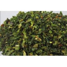 Flocos verdes de Jalanpeno desidratados