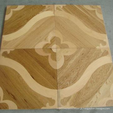 Revestimento de madeira projetado do parquet do mosaico do carvalho