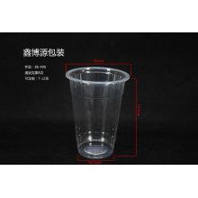 Copo bebendo plástico transparente com tampa da abóbada
