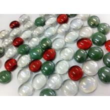 Diseño de mármol de cristal plano de Navidad