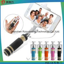 Super Mini Handheld Selfie Stick para iPhone Samsung - Preto