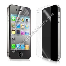 Front Back Clear Frosted LCD Screen Protector Guard Film For Apple iPhone 4G 4S