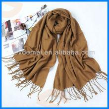 Мода сплошной цвет простой шерстяной шарф