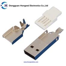 Male Solder Drei-Stück Anzüge USB 2.0 Steckverbinder