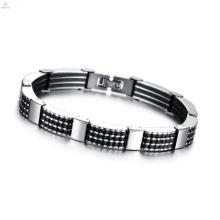 Moda pulseira de corrente longa, pulseira de prata de limpeza
