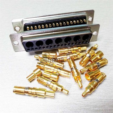 43W2 D-SUB Connectors High Current Male Solder