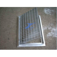 Bestätigte ISO-Abfluss-Abdeckungs-Stahlgittertreppe