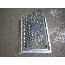 Escaliers de caillebotis en acier ISO