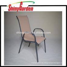 Heiße Verkäufe Stahlrahmen-Handels- Innen / Restaurant-Stapel-Stapel-Stuhl im Freien