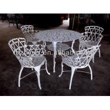 Aluminiummöbel 5pc gesetzt, Gartenmöbel, runder Tisch