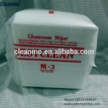 Fabricant Pas cher 25x25 cm Cleanroom Nonwoven nettoyage Essuyeurs / Lingettes M3