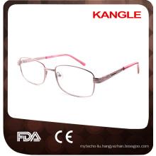 Cheapest Economic basic line Lady metal optical frames / metal eyeglasses