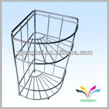User-friendly design three level retail metal engine oil display rack