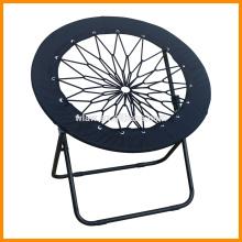 Malha preta rodada dobrável cadeira de bungee