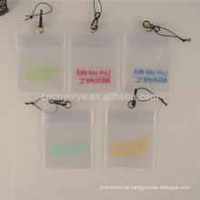 suporte de cartão de identificação de pvc plástico