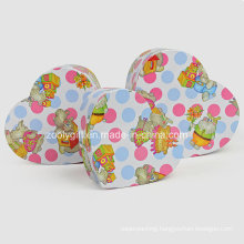 Hearted Shape Printing Paper Gift Packing Boxes for Baby Toys