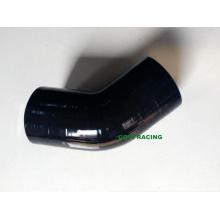 Mangueira de borracha de silicone do carro de cotovelo preto de 45 graus 51mm 2 '' Neck