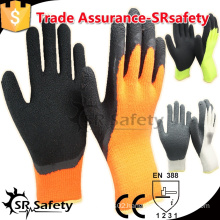 SRSAFETY 7 G Acrylic Nappy Knitted winter work gloves/thermal gloves/Winter safety gloves/safety latex working gloves