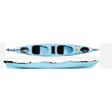 online trade show racing boat factory wholesale PE sit in sea kayak with spray deck and paddle