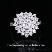 recém-chegados 2018 anéis de anel de pedra da forma do coração elegante para o presente das mulheres