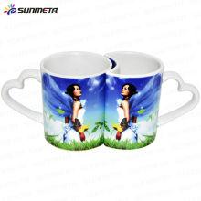 sublimation couple lovers mugs love handle lovers mug