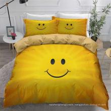 3D Printed Bedding Set, Suitable for Duvet Cover Set, Smile