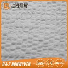 """""""-"""" digite não tecido matéria-prima 100% poliéster em relevo spunlace não tecido não tecido com bom absorvente para lenços umedecidos"""