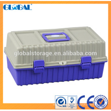 Caja de herramientas plástica de alta calidad de 16.5 pulgadas con cerradura de cerrojo
